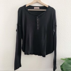 Urban Outfitters L/S Thermal Crop Top
